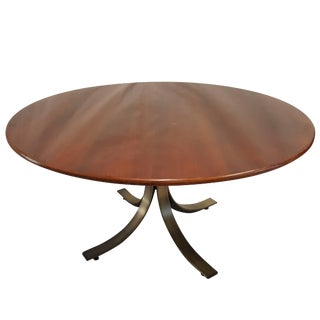 Osvaldo Borsani Walnut Sculptured Table For Sale