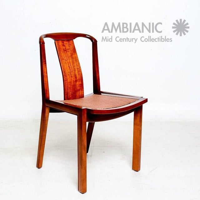 For your consideration a set of four Mid-Century Modern dining chairs. Clean modern lines. Very comfortable. No label...