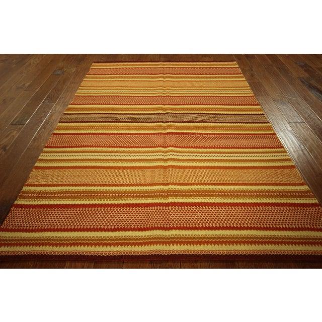 "Multicolor Modern Kilim Rug - 5'7"" x 8' - Image 4 of 6"