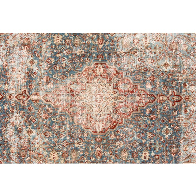 "1910s Apadana-Antique Persian Distressed Rug, 8'5"" X 12'0"" For Sale - Image 5 of 9"