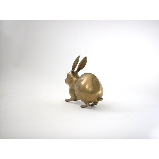 Large Vintage Brass Rabbit - Image 5 of 7
