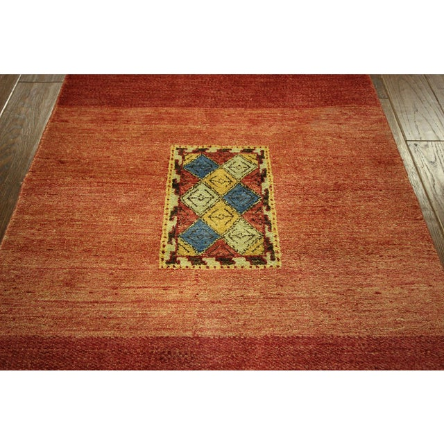 Modern Collection Gabbeh Runner - 2′9″ × 10′ For Sale In New York - Image 6 of 9