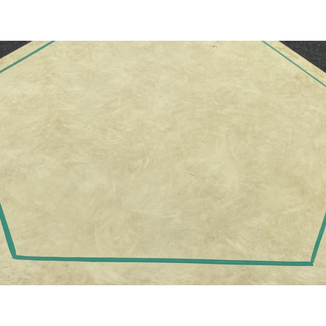 Paint 1960s Vintage Moroccan Hexagon Lacquered Side Tables - a Pair For Sale - Image 7 of 11
