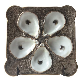 French Antique Porcelain Oyster Plate For Sale
