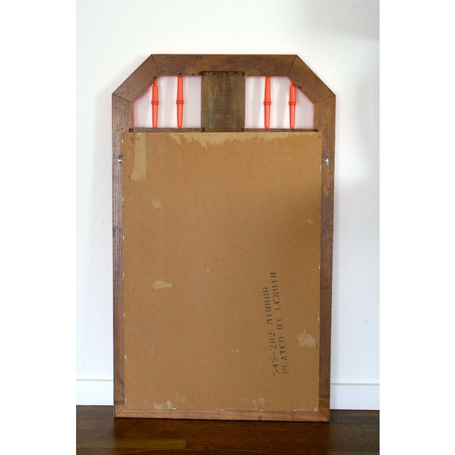 Coral Faux Bamboo Hollywood Regency Mirror For Sale - Image 4 of 5