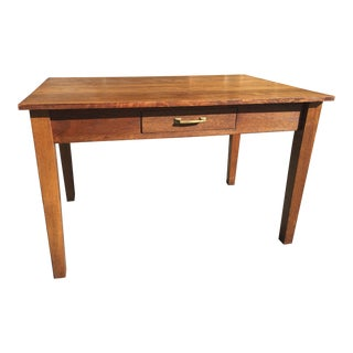 Antique Arts & Crafts Style Library or Kitchen Table For Sale