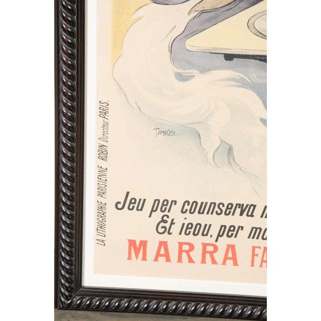 "Gorgeous Belle Époque Poster by Francisco Tamagno ""Demandez Un Marra"" For Sale In New York - Image 6 of 9"