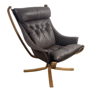 1970s Vintage Vatne Mobler Norway Falcon Chair For Sale