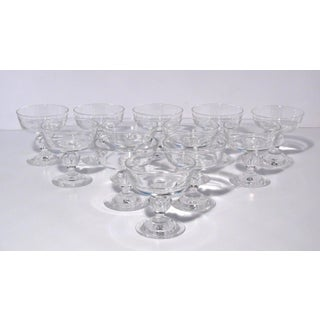Steuben Champagne Glasses for Gumps - Set of 12 Preview