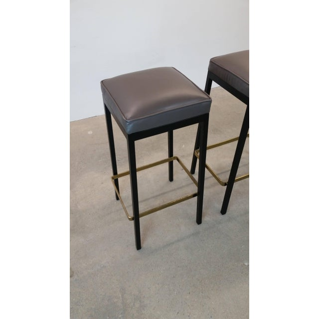 Knoll Early Bar Stools by Florence Knoll For Sale - Image 4 of 9