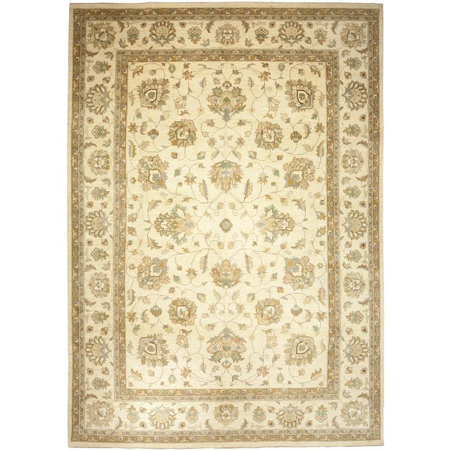 "Oushak Hand Knotted Area Rug - 9'10"" X 14'0"" For Sale"