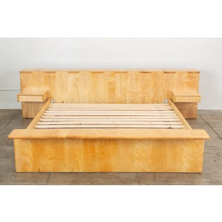 Maple Platform California King Bed With Floating Nightstands by Gerald McCabe Preview