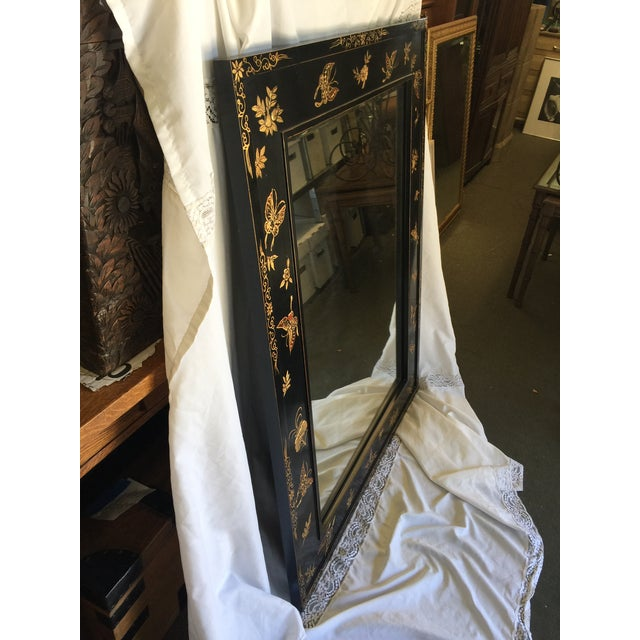 Chinoiserie Wal Mirror Decorated With Butterflies For Sale - Image 11 of 13