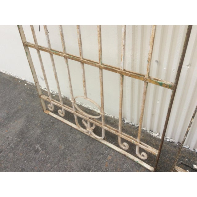 Brown Pair Antique Iron Gates - A Pair For Sale - Image 8 of 10