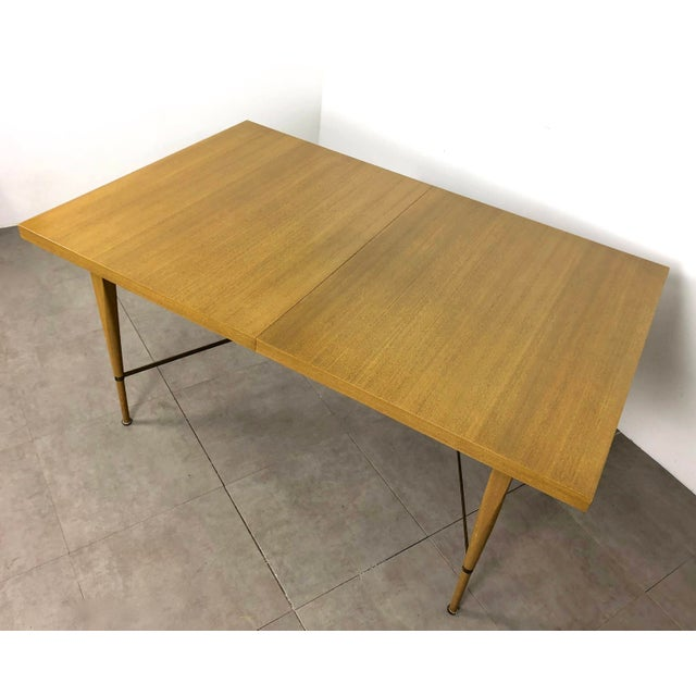 Brass 1950s Vintage Paul McCobb Irwin Calvin Dining Table For Sale - Image 7 of 11