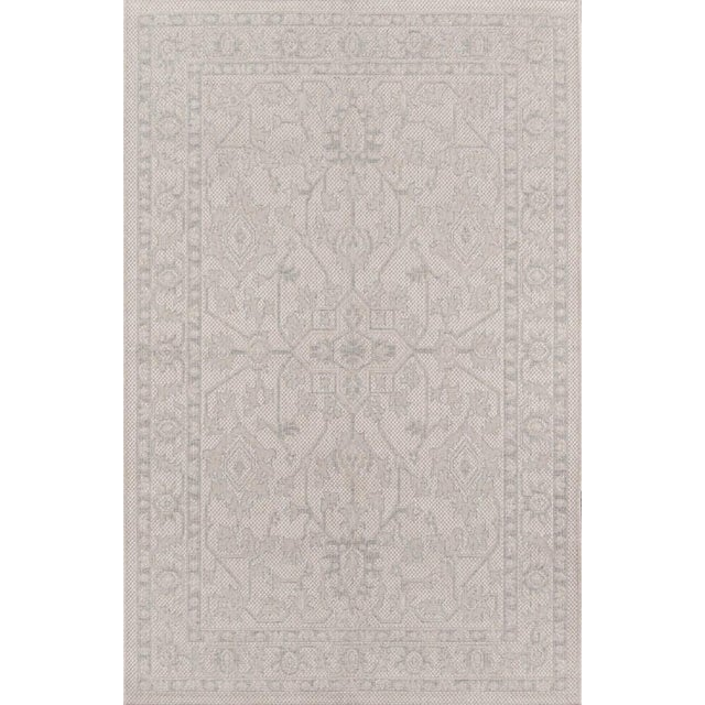 "Erin Gates Downeast Boothbay Grey Machine Made Polypropylene Area Rug 6'7"" X 9'6"" For Sale"