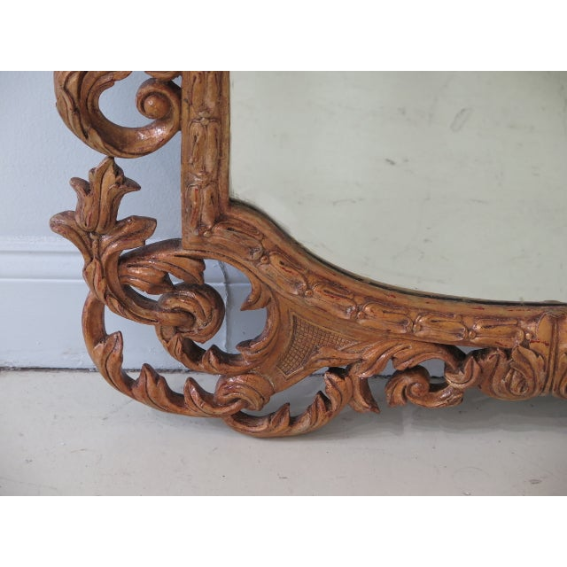 Glass Theodore Alexander French Style Paint Decorated Mirror For Sale - Image 7 of 11