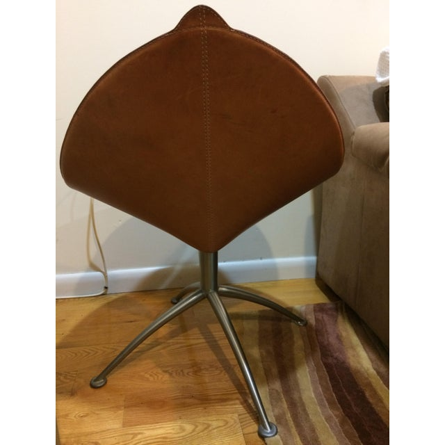 Contemporary Leather Fasem Chair - Image 7 of 8