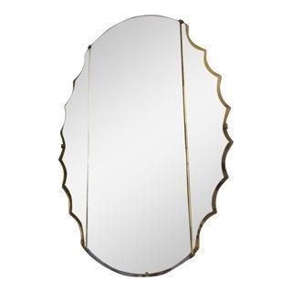 Italian Venetian Mirror, Eglomise Amber Over Clear