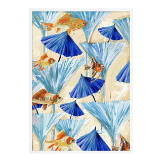 Zanzabar Collage 3 by Lulu DK in White Framed Paper, Medium Art Print For Sale