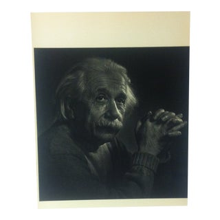 "Black & White Print on Paper, ""Albert Einstein"" by Yousuf Karsh, 1967 For Sale"