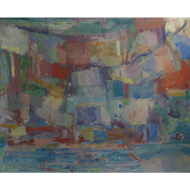 Signed Abstract Oil Painting by Jean Gunther, Listed Artist - Image 12 of 13