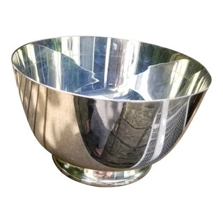 1950s Paul Revere Reproduction Silver Plate Bowl For Sale