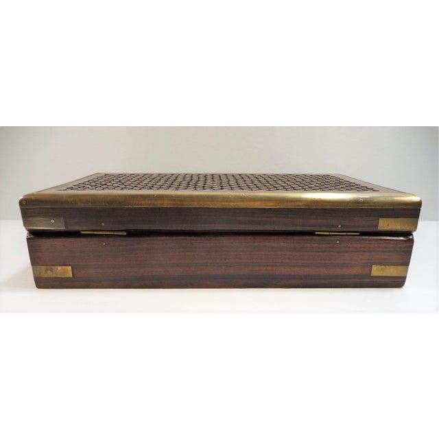 Vintage Pierced Wood Box - Image 5 of 7