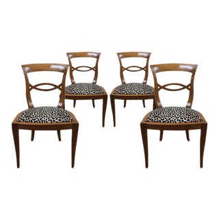 Italian Fruitwood Chairs - Set of 4 For Sale