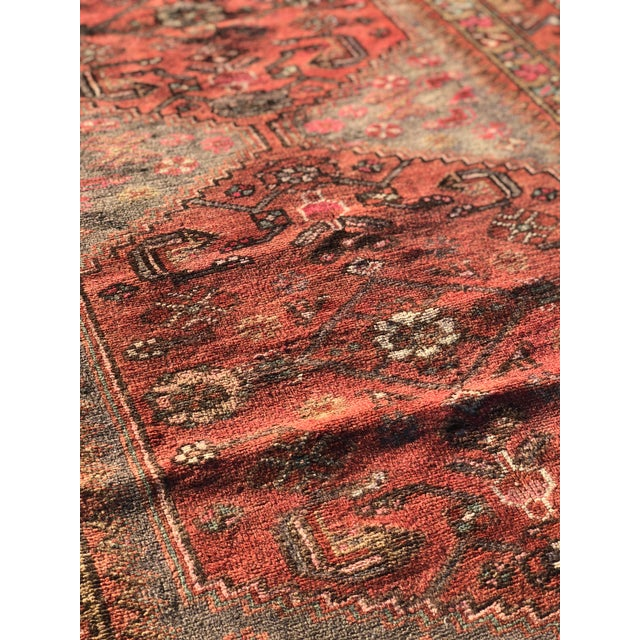 1940s 1940s Vintage Persian Hosenibad Runner Rug - 3′7″ × 10′2″ For Sale - Image 5 of 12