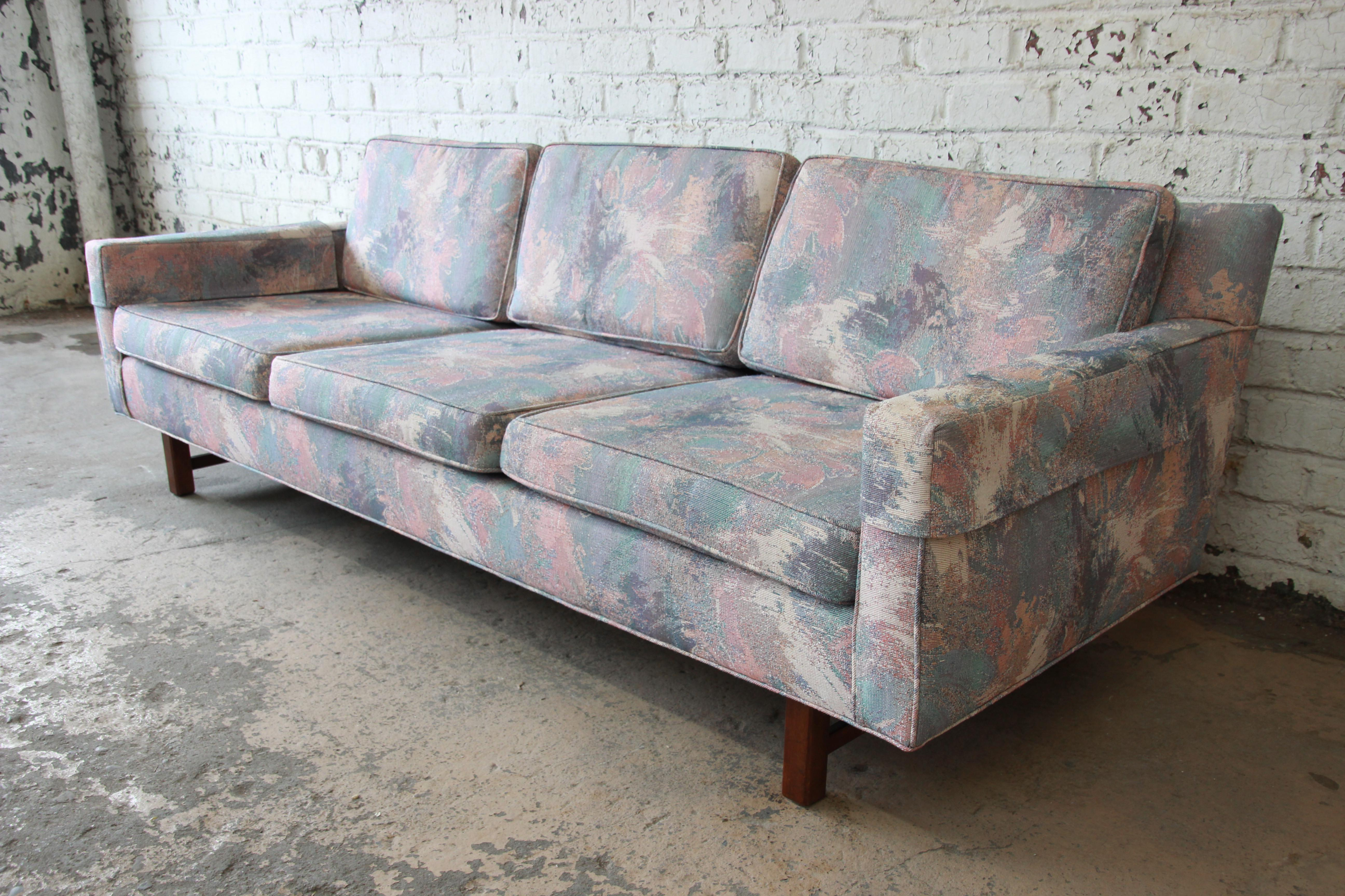 Mid Century Modern Low Profile Sofa Attributed To Edward Wormley For Dunbar    Image 2