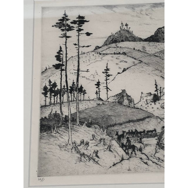 """""""Mountain Farms Near Spruce Pine, North Carolina"""" Etching by Harrison Cady For Sale - Image 4 of 13"""