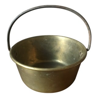 Vintage Solid Brass Bucket For Sale