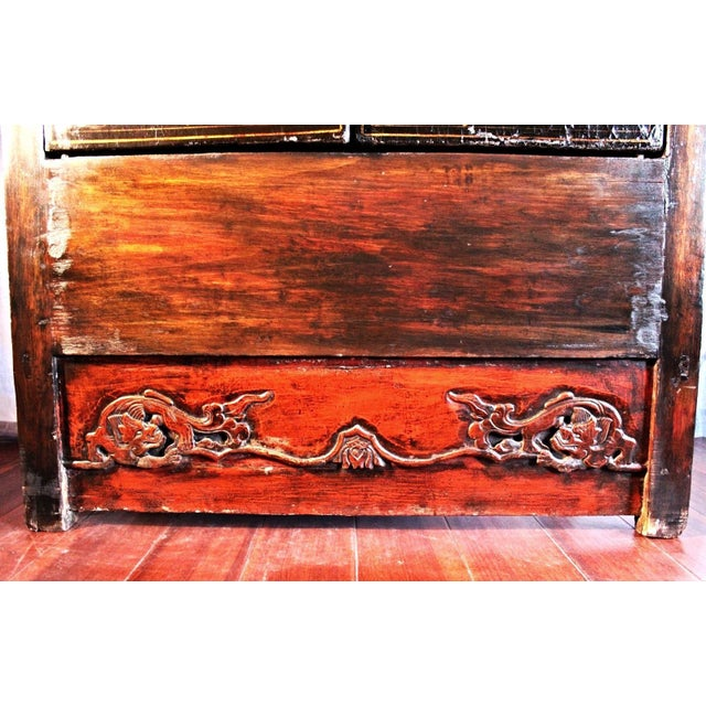 Chinese Early Chinese Armoire Lacquer Cabinet For Sale - Image 3 of 9