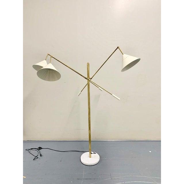 Italian Brass Mid Century Style Floor Lamp For Sale - Image 12 of 12