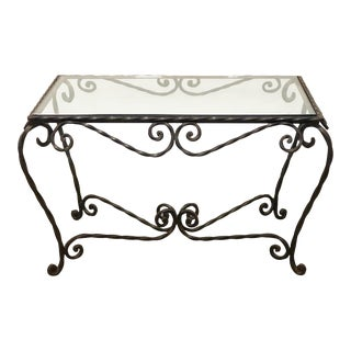 1940s French Iron Coffee Table For Sale