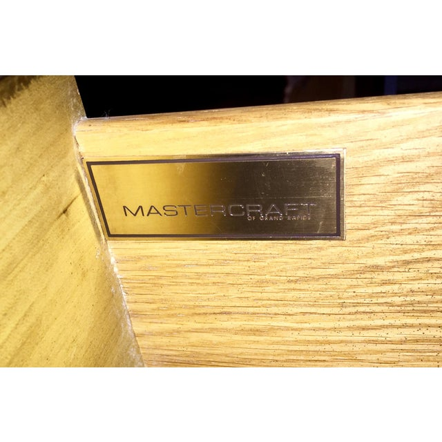 Mastercraft Brass & Burlwood Server - Image 5 of 7