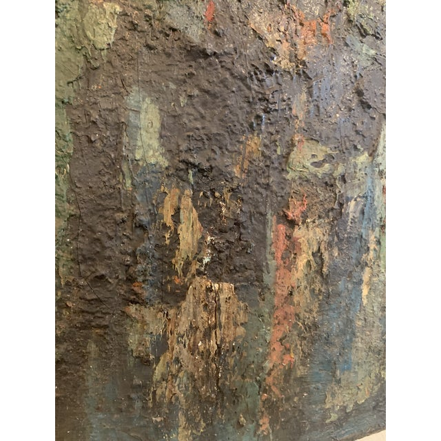"Paint 1960s Vintage Joo-Yon Ohm Ceerderberg ""Midnight Fire"" Large Abstract Painting For Sale - Image 7 of 9"