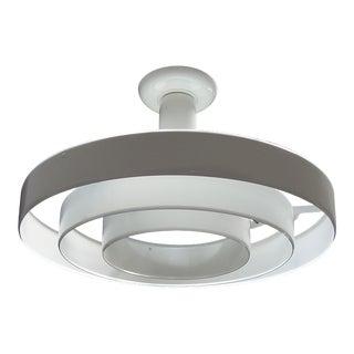 Prescolite Mid-Century Modern Saturn Ring Flush Mount Light For Sale