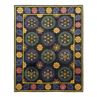 One-Of-A-Kind Patterned & Floral Handmade Area Rug - 9 X 12 For Sale