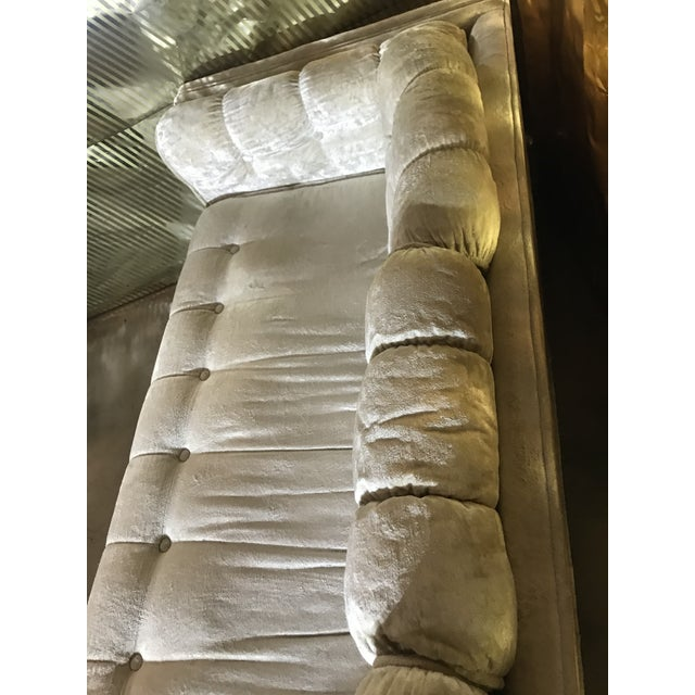 Textile 1970s Milo Baughman Frost White Sofa For Sale - Image 7 of 13