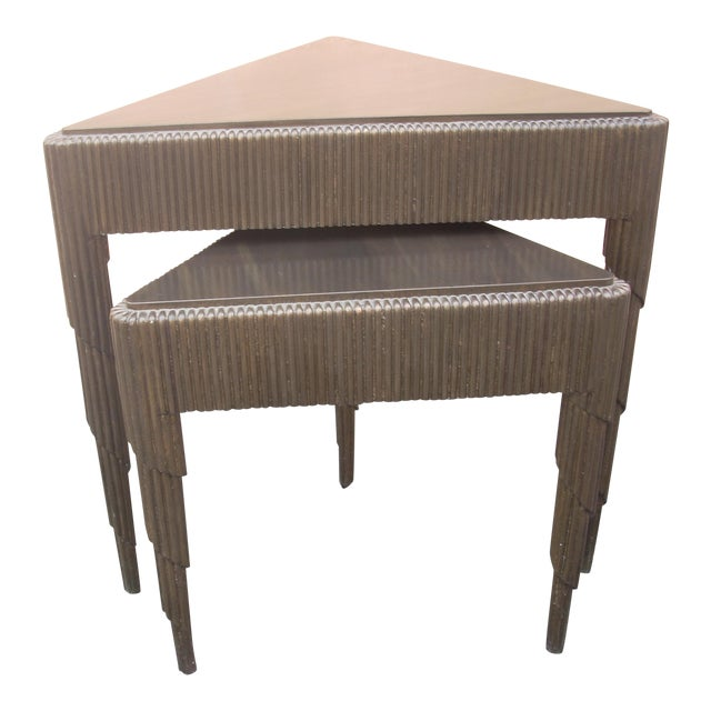 Triangular Nesting Tables - A Pair - Image 1 of 5