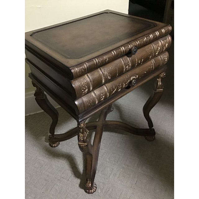 Maitland Smith Style Pulaski Book Art Deco Lady Table Last Markdown For Sale - Image 9 of 13