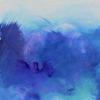 Abstract Expressionist Blue Purple Giclee Art Print on Canvas For Sale