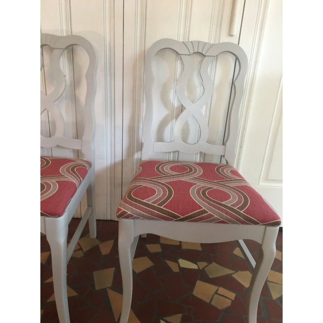 Dove Gray Ribbon Back Chairs - Set of 4 - Image 3 of 8