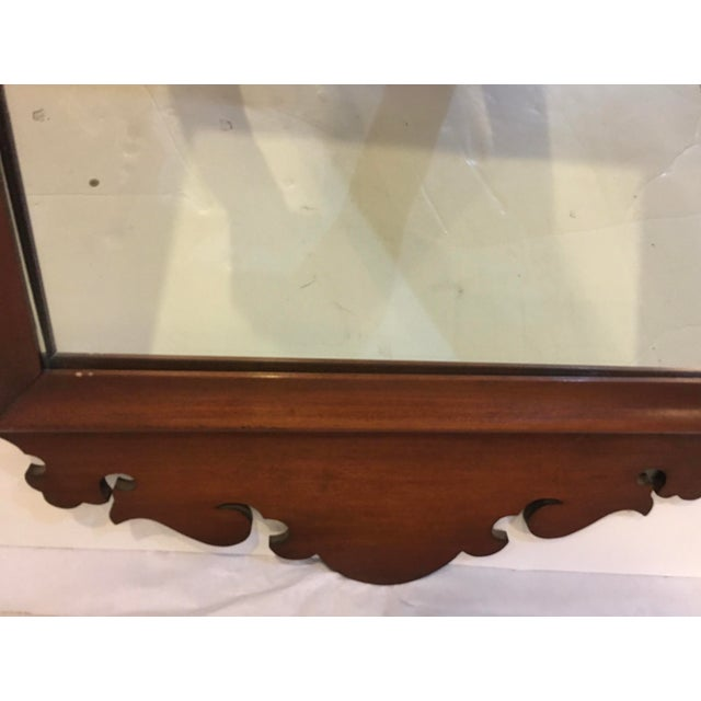 1990s Chippendale Style Mahogany Mirror Wall Decor For Sale - Image 5 of 6