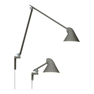 Oki Sato NJP Gray Large Wall Light for Louis Poulsen