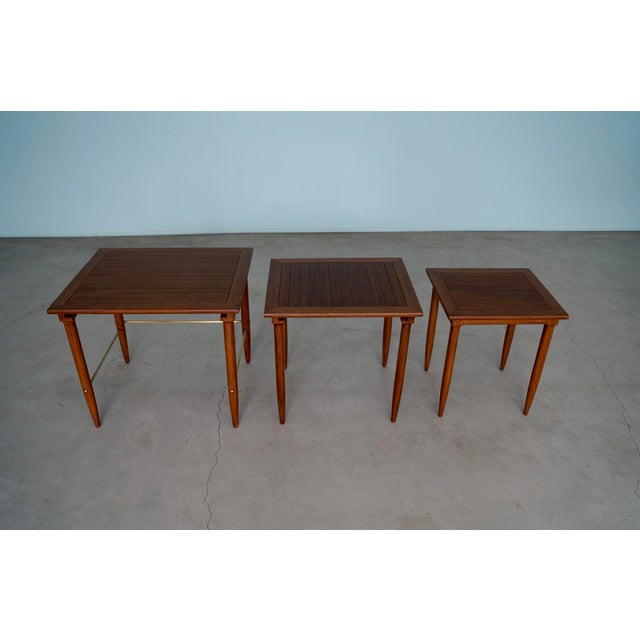 1950s 1950s Mid-Century Modern Tomlinson Nesting Tables - Set of 3 For Sale - Image 5 of 13