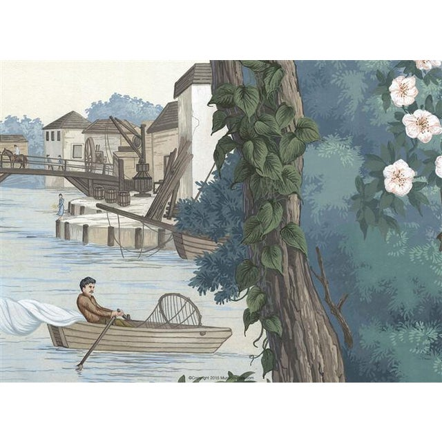"Casa Cosima Casa Cosima Bajan Mural - 4 Panels 144"" W X 120"" H For Sale - Image 4 of 5"
