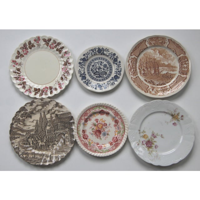 Mismatched Transfer Ware Plates - Set of 12 - Image 2 of 5